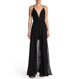 Meghan LA Geometric Seam Dress Black Size XL